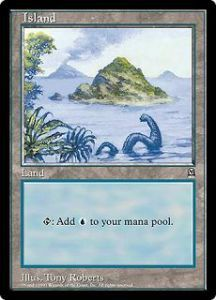 Grande Carte Oversized Magic the Gathering Island (Oversized 6x9 Promos Arena League)