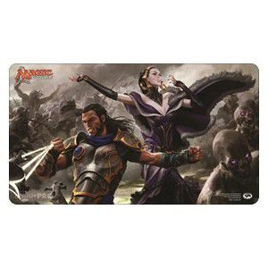 Tapis de Jeu Magic the Gathering La Lune Hermétique - Playmat - Liliana, Gidéon