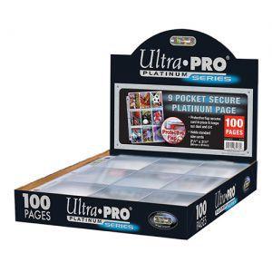 Classeurs et Portfolios Accessoires Pour Cartes Ultra Pro - Lot De 100 Feuilles De Classeur - [9-Pocket Pages Secure Platinum] - ACC