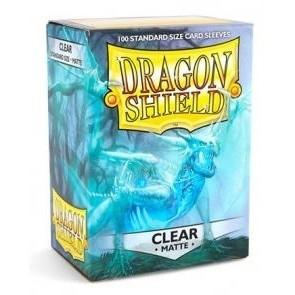 Protèges Cartes 100 Pochettes Dragon Shield Matte - Clear - Acc