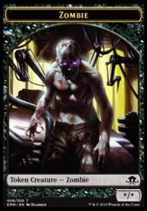 Tokens Magic Magic the Gathering Token/Jeton - La Lune Hermétique - Zombie */*