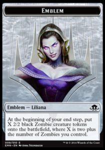 Tokens Magic Magic the Gathering Token/Jeton - La Lune Hermétique - Emblème Liliana, Dernier Espoir