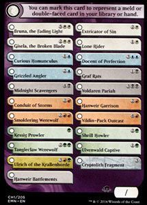Tokens Magic Magic the Gathering Token/Jeton - La Lune Hermétique - Checklist