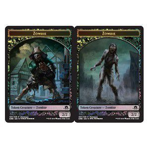 Token Magic Magic the Gathering Token/Jeton - Foil - La Lune Hermétique - Zombie Recto Verso
