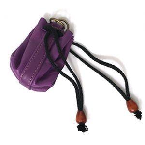 Dés et compteurs Accessoires Pour Cartes Sacoche en Cuir - Violet (Vide) - ACC