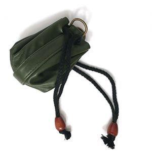 Dés et compteurs Accessoires Pour Cartes Sacoche en Cuir - Vert (Vide) - ACC