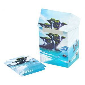 Boites de rangement illustrées Accessoires Pour Cartes Deck Box - Lands Edition Île