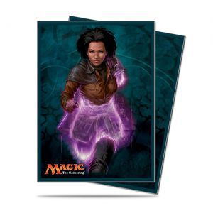Protèges Cartes illustrées Magic the Gathering Conspiracy : Take The Crown - Kaya - 80 Pochettes
