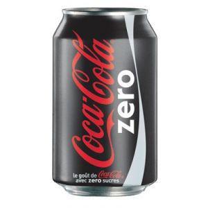Confiseries Boisson Canette - Coca Cola Zero (noir)
