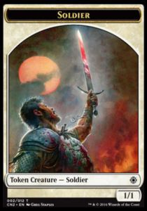 Tokens Magic Magic the Gathering Token/jeton - Conspiracy : Take The Crown - Soldat