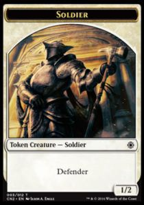 Tokens Magic Magic the Gathering Token/jeton - Conspiracy : Take The Crown - Soldat Defenseur