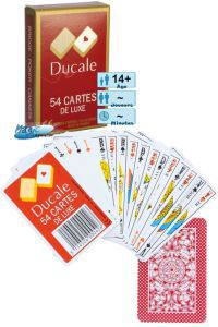 Jeux de cartes Petits Jeux Jeux de 54 cartes de luxe - Ducale - Rouge