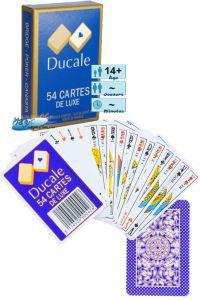 Jeux de cartes Petits Jeux Jeux de 54 cartes de luxe - Ducale - Bleu