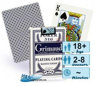 Jeux de cartes Petits Jeux Jeux de cartes de Poker - Grimaud - Bleu