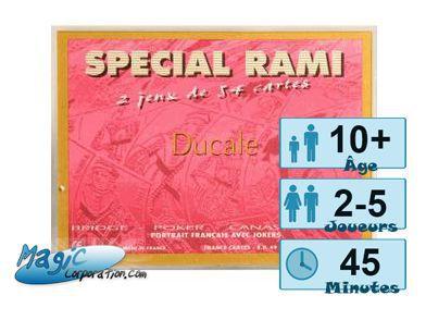Jeux de cartes Coffret spécial Rami - Ducale - Rouge
