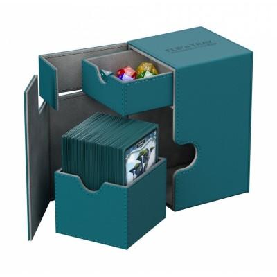 Boites de Rangements Accessoires Pour Cartes Deck Box Ultimate Guard - Xenoskin 100 - Bleu Pétrole - T2+ - Acc