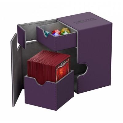 Boites de Rangements Accessoires Pour Cartes Deck Box Ultimate Guard - Xenoskin 100 - Violet - T2+
