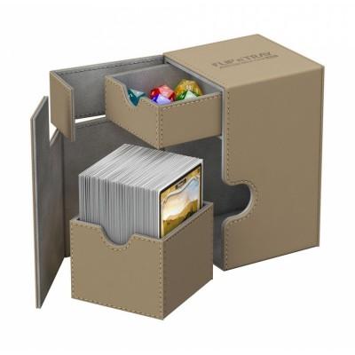 Boites de Rangements Accessoires Pour Cartes Deck Box Ultimate Guard - Xenoskin 100 - Sable - T2+