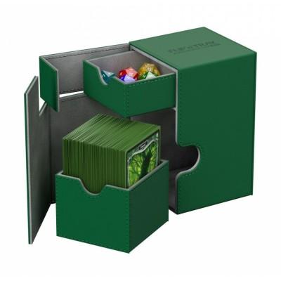 Boites de Rangements Accessoires Pour Cartes Deck Box Ultimate Guard - Xenoskin 100 - Vert - T2+