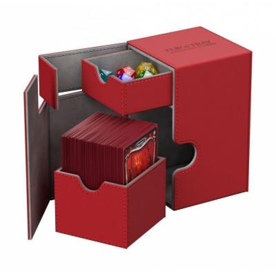 Boites de Rangements Accessoires Pour Cartes Deck Box Ultimate Guard - Xenoskin 100 - Rouge - T2+
