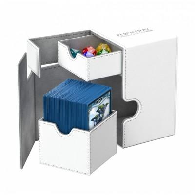 Boites de Rangements Accessoires Pour Cartes Deck Box Ultimate Guard - Xenoskin 100 - Blanc - T2+ - Acc