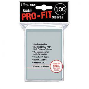 Protèges Cartes Accessoires Pour Cartes 100 pochettes Ultra Pro - Pro Fit Sleeves - Taille Small - ACC