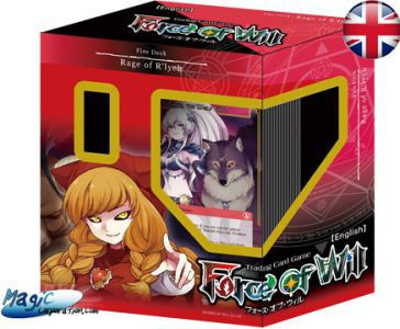 Starters Force of Will Force of Will Force Of Will - Starter Deck - Deck De Démarrage + 3 Boosters - Feu - 2016 - (EN ANGLAIS)