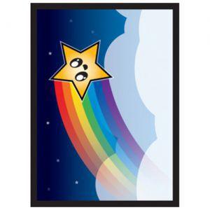 Protèges Cartes illustrées  50 Pochettes Matte - Rainbow Star