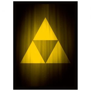 Protèges Cartes illustrées Accessoires Pour Cartes 50 Pochettes - Zelda - Triforce