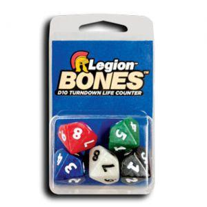 Dés et compteurs Accessoires Pour Cartes 5xd10 Dice - Bones