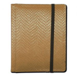 Portfolios  Binder - Dragon Hide - 4 Cases - Gold