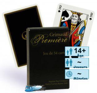 Jeux de cartes Petits Jeux Jeux de 54 cartes de luxe - Grimaud - Noir