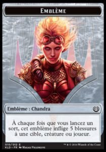 Tokens Magic Magic the Gathering Token/Jeton - Kaladesh - 10/12 Emblème Chandra