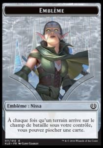 Token Magic Magic the Gathering Token/Jeton - Kaladesh - 11/12 Emblème Nissa