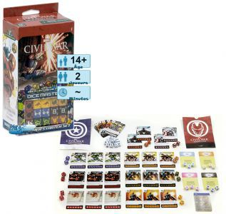 Autres petits jeux Petits Jeux Dice masters - Civil War - Marvel - starter set pour 2 joueurs