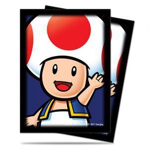 Protèges Cartes illustrées Accessoires Pour Cartes 65 Pochettes Ultra Pro - Nintendo - Toad - ACC