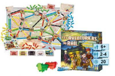 Thème : Véhicules Jeux de Plateau Les Aventuriers Du Rail : Mon Premier Voyage