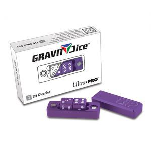 Dés et compteurs 2 Dés à 6 Faces - Gravity Dice  - Violet