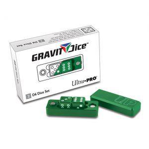 Dés et compteurs 2 Dés à 6 Faces - Gravity Dice - Vert