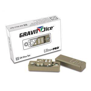 Dés et compteurs Accessoires Pour Cartes Ultra Pro - Gravity Dice Dé 6 Faces - Beige / Sable - 2 Dice Set - ACC