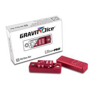Dés et compteurs Accessoires Pour Cartes Ultra Pro - Gravity Dice Dé 6 Faces - Rouge - 2 Dice Set - ACC