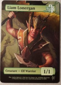 Tokens Magic Magic the Gathering Token/jeton - Elf Warrior - Star City Games - (liam Lonergan)