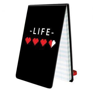 Dés et compteurs Score Keeping - Life Pad - 8-Bit Hearts