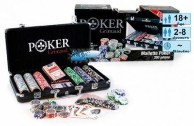 Jeux de cartes Petits Jeux Coffret Malettes Poker Grimaud alu noir (300 jetons)