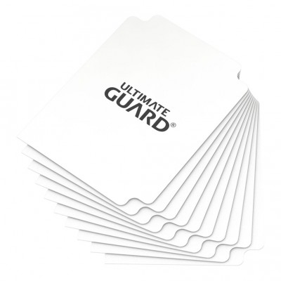 Boites de Rangements  Card Dividers - 10 Séparateurs De Cartes - Blanc