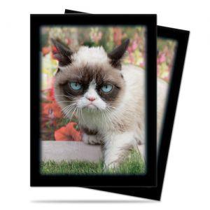 Protèges Cartes illustrées Accessoires Pour Cartes 50 Pochettes Ultra Pro - Grumpy - Cat Flowers - ACC