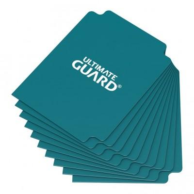 Boites de Rangements Accessoires Pour Cartes Deck Dividers Ultimate Guard - 10 Séparateurs De Cartes - Bleu Pétrole - Acc