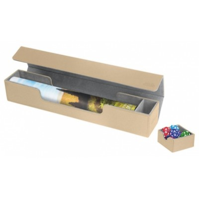 Tapis de Jeu Accessoires Pour Cartes Deck Box Ultimate Guard - Flip'n'tray Play Mat Xenoskin - Sable