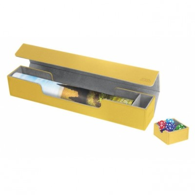 Tapis de Jeu Accessoires Pour Cartes Deck Box Ultimate Guard - Flip'n'tray Play Mat Xenoskin - Jaune - Acc