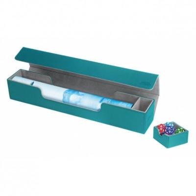 Tapis de Jeu Accessoires Pour Cartes Deck Box Ultimate Guard - Flip'n'tray Play Mat Xenoskin - Bleu Pétrole - Acc